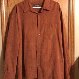 Croft & Barrow size XXL brown button front shirt